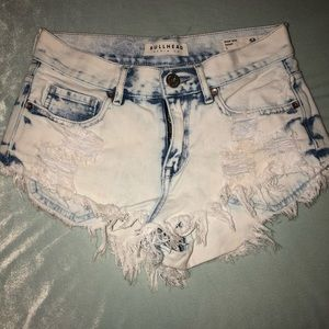 High waist distressed Jean shorts